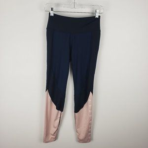 H&M Navy and Pink Athletic Leggings Size Small